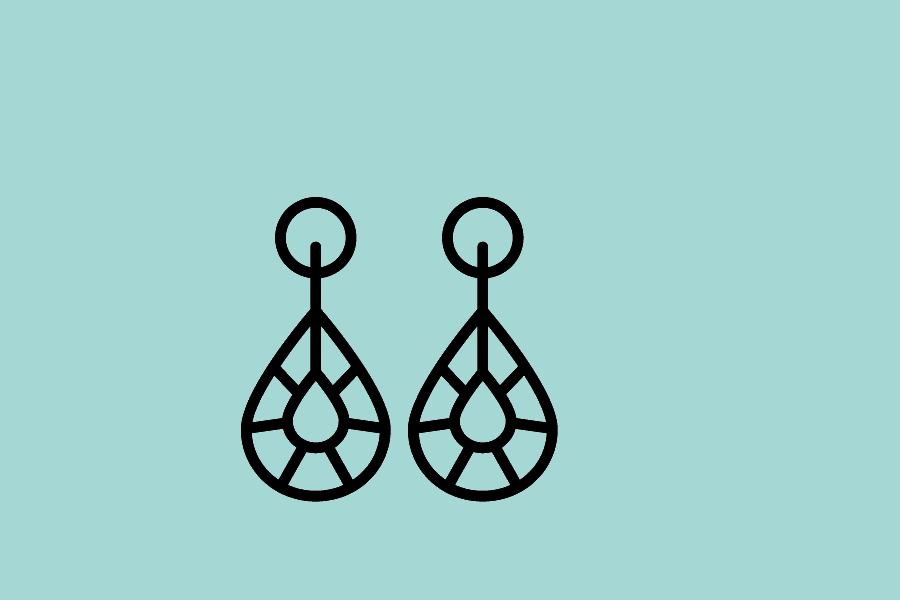 logo bijoux fantaisie boucles d'oreilles