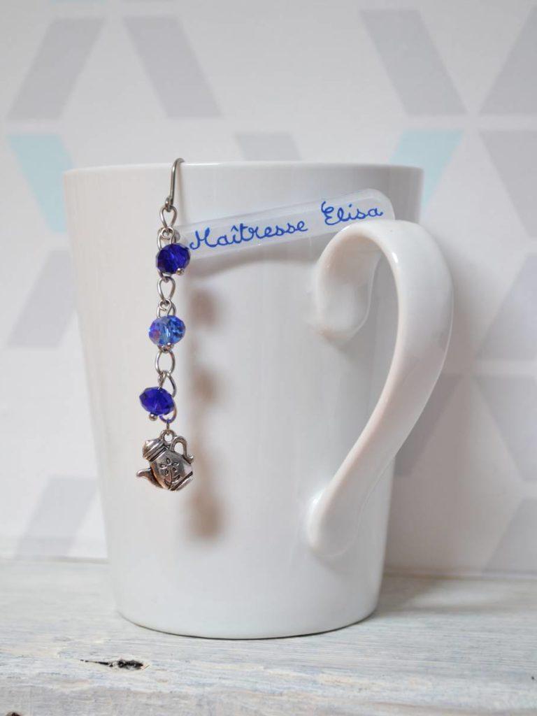 boule à thé fantaisie bleue théière