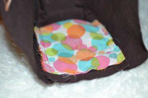 doublure intérieur poche côté multicolore