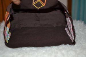doublure interieur sac en cours de fabrication