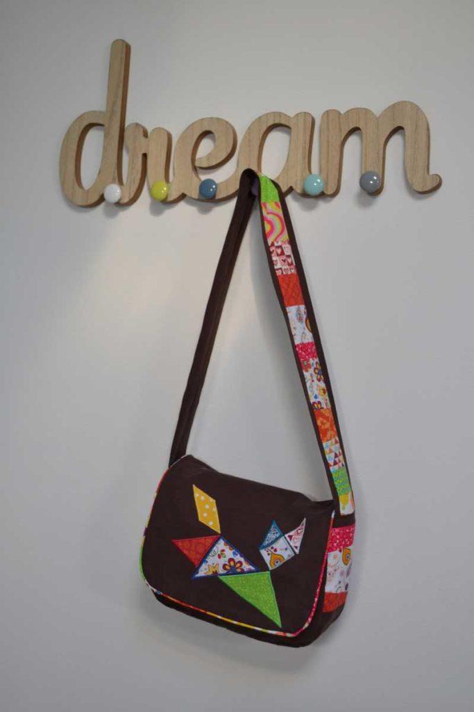 réalisatrice de rêves en tissu sac à main chat