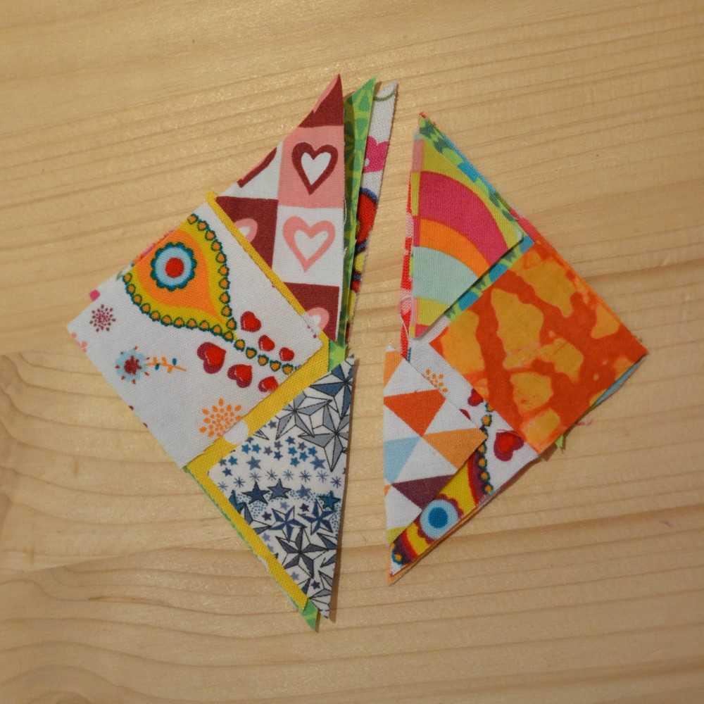 pièces de tangram en tissu