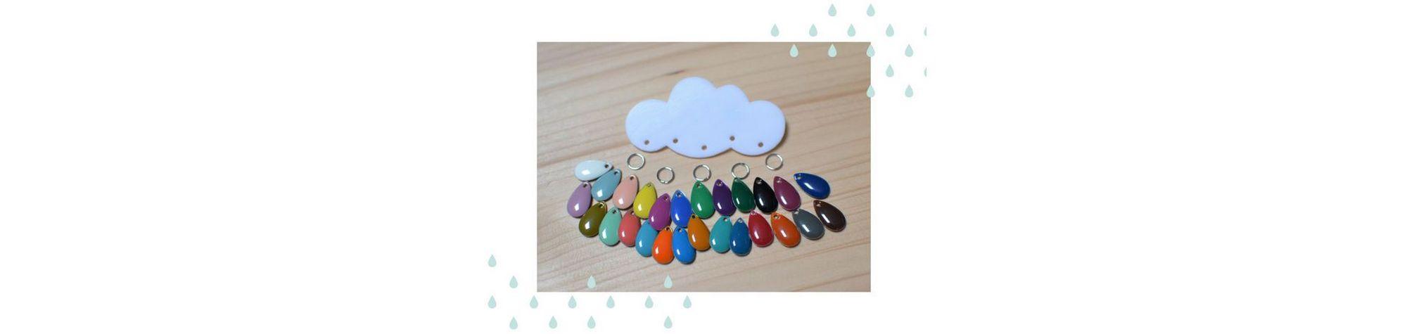 Concours ~ Broches nuages et gouttes multicolores au choix #BDJ137