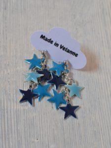 boucles d'oreilles étoilées made in Velanne
