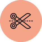pictogramme DIY ciseaux fond orange