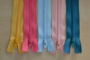 zip multicolores