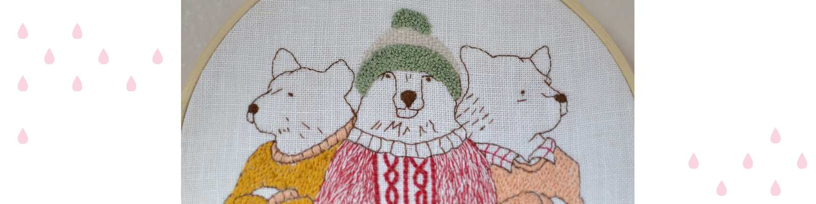 Broderie d'hiver : « Gang of bears » #MarionRomainPatterns
