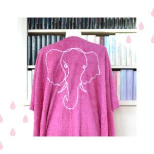 cape de bain éléphant