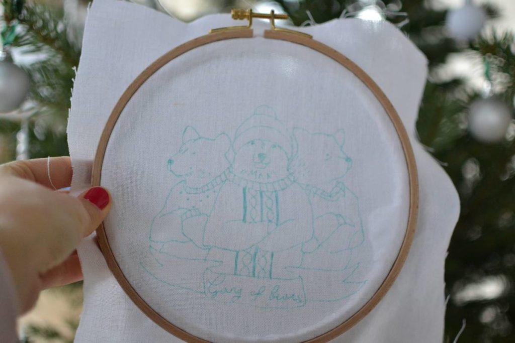 modèle gang of bears reproduit sur toile