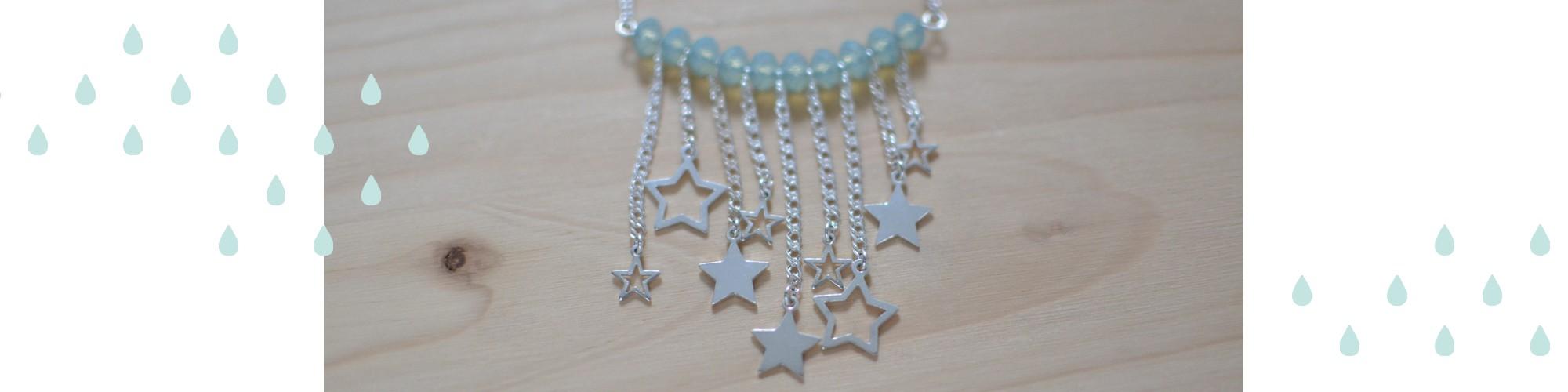 Sautoir étoiles filantes en argent 925 #BDJ139
