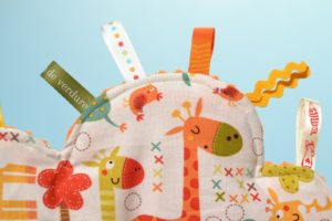 tissu girafes multicolores Riley Blake designs
