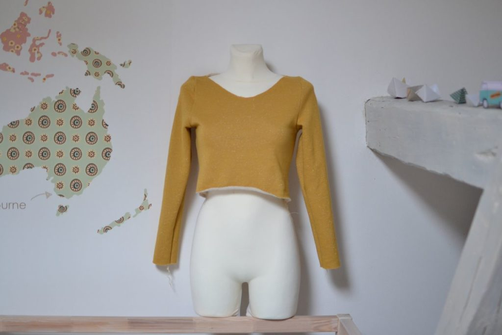 robe pull cocon en cours de couture