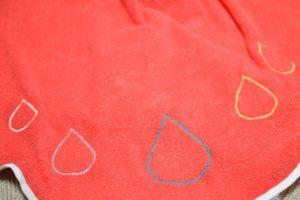 tissu éponge orange flashy