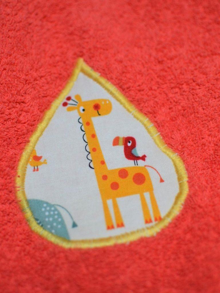 appliqué goutte girafe