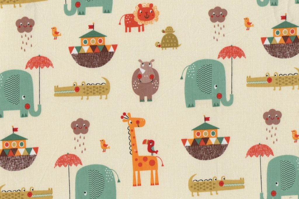 tissu giraffe crossing 2 de Riley blake designs