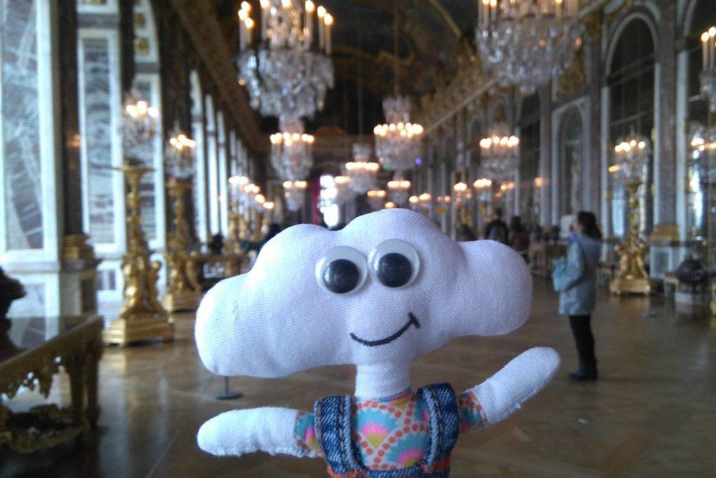 Mr Dream à la galerie des glaces de Versailles