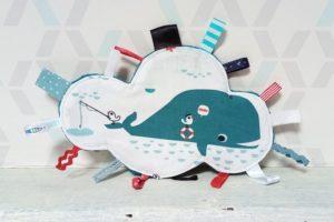 doudou étiquettes nuage baleine