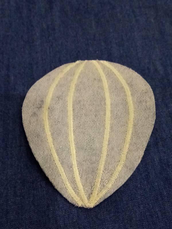 appliqué montgolfière en tissu home made