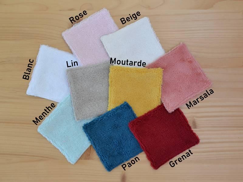 choix couleurs lingettes en bambou
