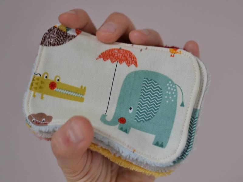 lingettes lavables pour bébé