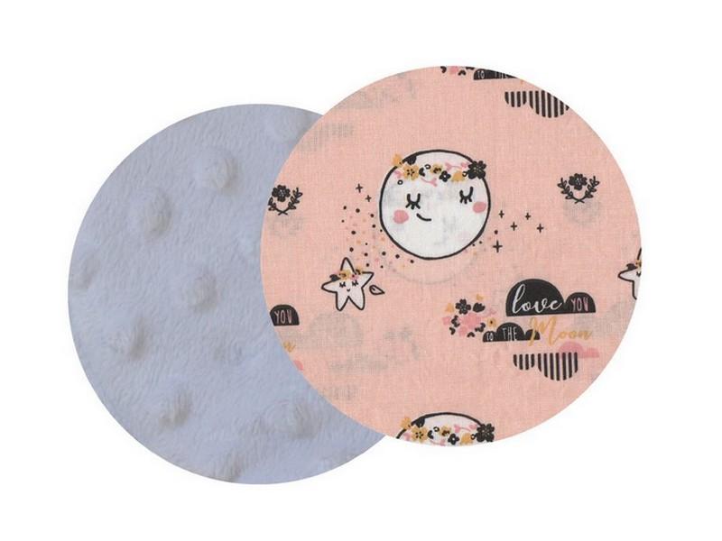 tissu pour doudou étiquettes personnalisé lune