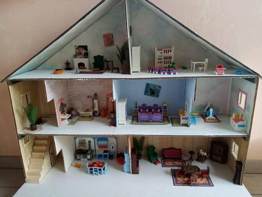 maison playmobil en carton