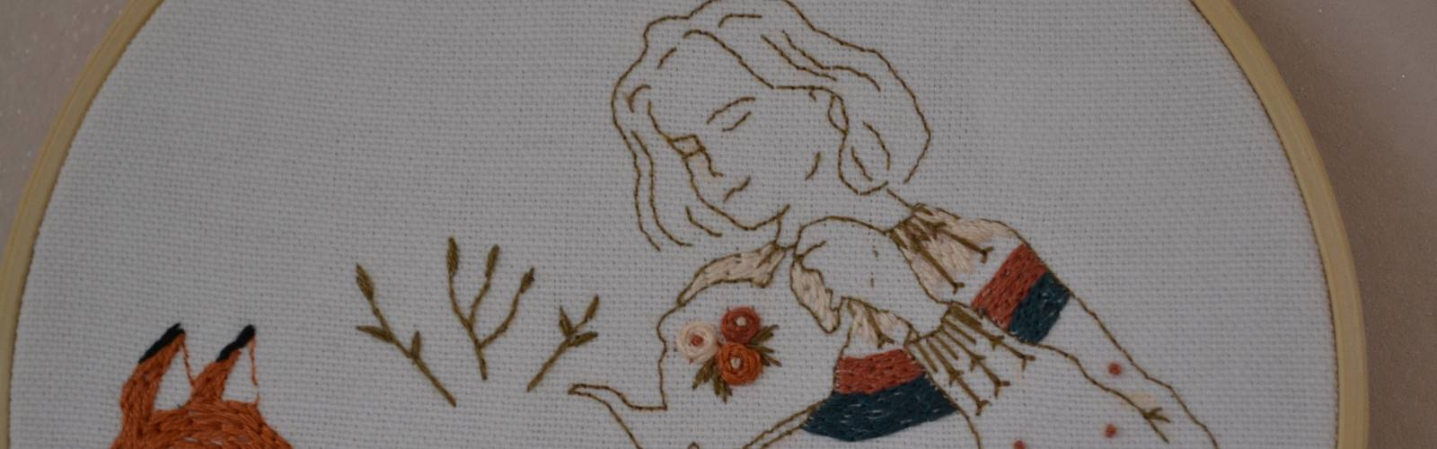Ma broderie automne-hiver : « Tea time » #MarionRomainPatterns