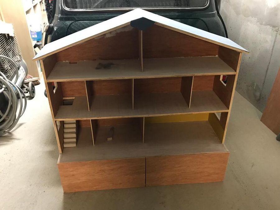 cloisons maison playmobil en bois