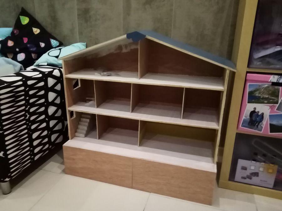 finitions DIY maison playmobil en bois