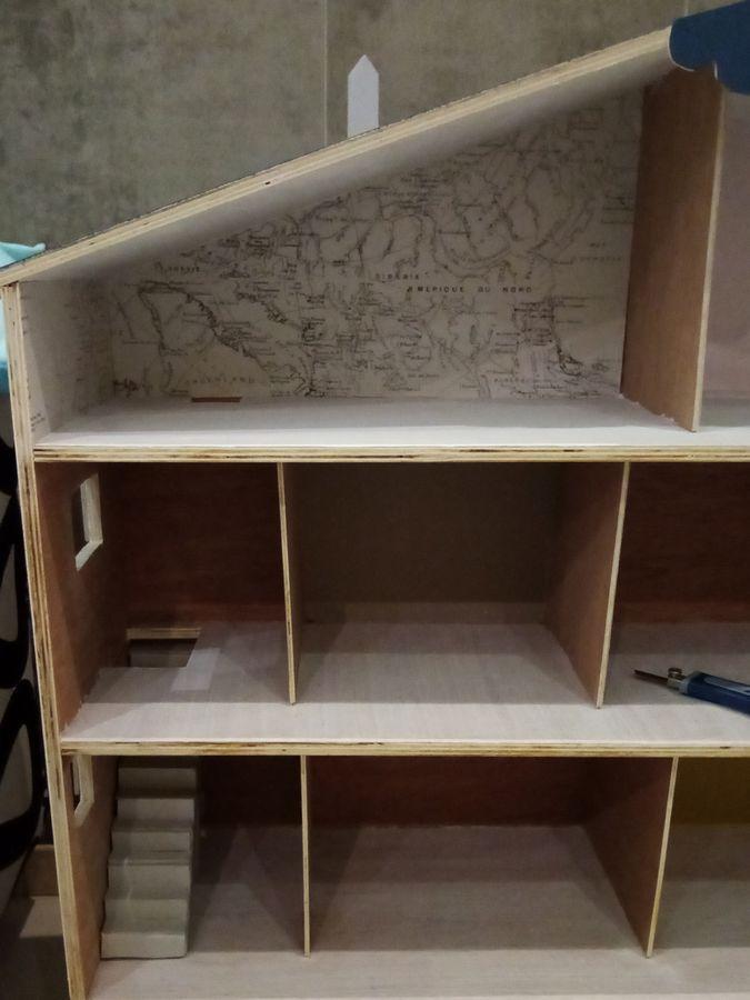 intérieur maison playmobil en bois