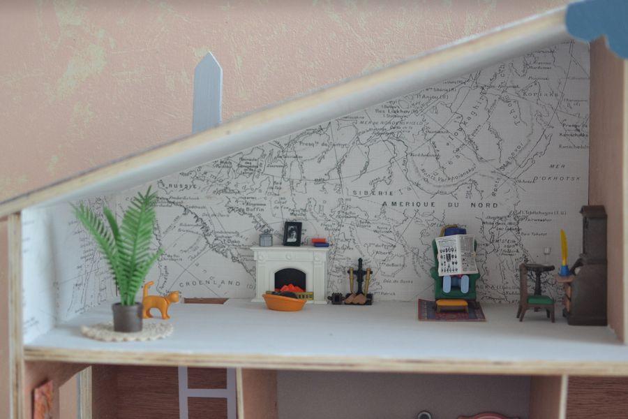 maison playmobil en bois ~ bureau du grand père