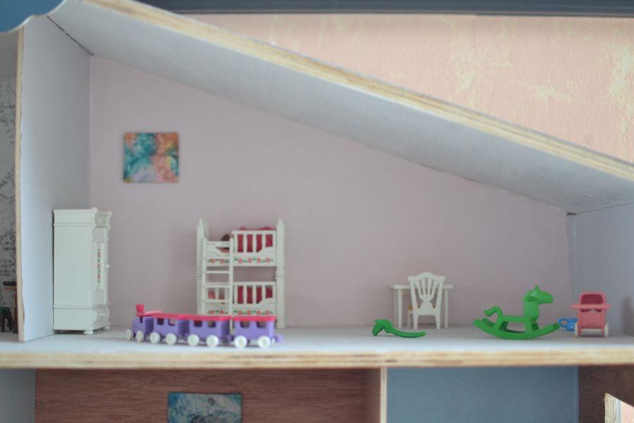 maison playmobil en bois ~ chambre des enfants