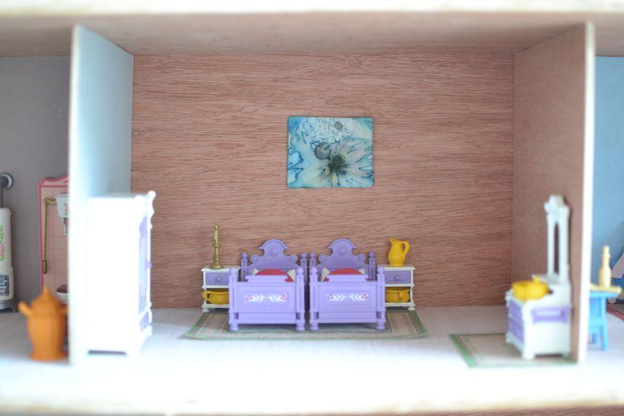 maison playmobil en bois ~ chambre des parents