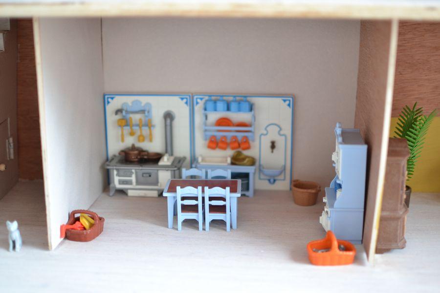 maison playmobil en bois ~ cuisine