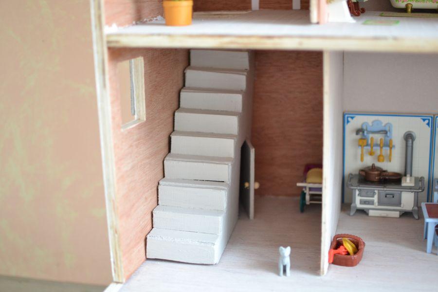 maison playmobil en bois ~ escalier