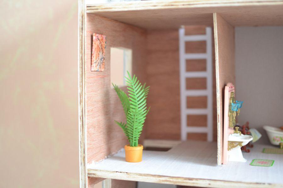 maison playmobil en bois ~ cage d'escalier