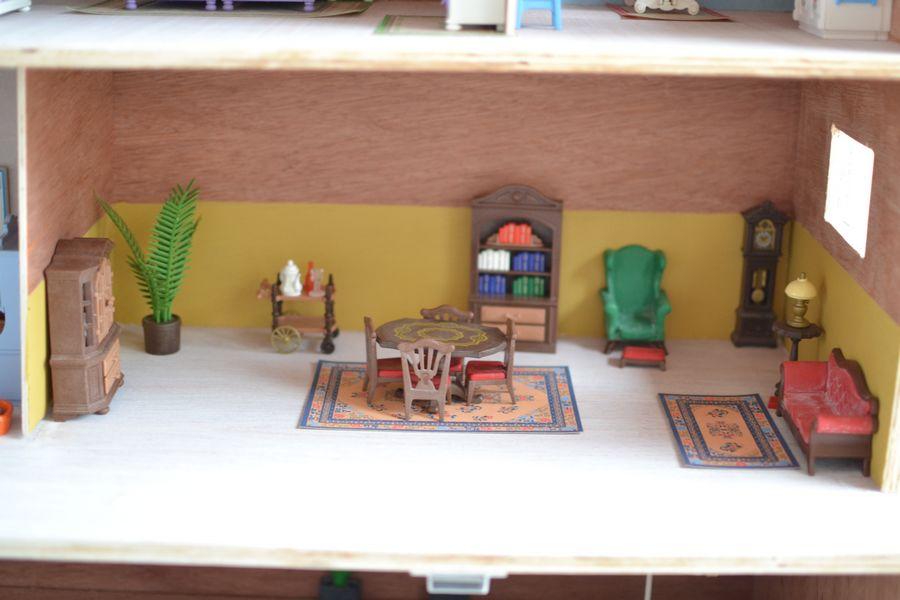 maison playmobil en bois ~ salle à manger