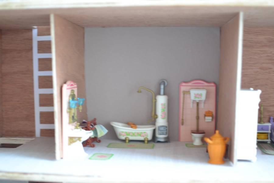 maison playmobil en bois ~ salle de bain