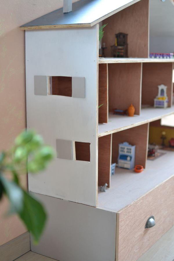 maison playmobil en bois de profil